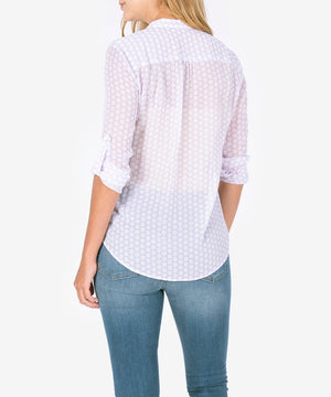 Jasmine Printed Top (Lilac)-New-Kut from the Kloth