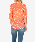 Jasmine Printed Top (Orange) Hover Image