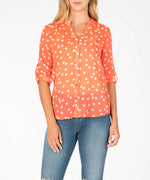Jasmine Printed Top (Orange) Main Image