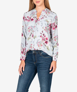 Jasmine Printed Blouse-New-Kut from the Kloth