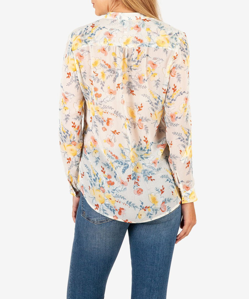 Jasmine Printed Top-Kut from the Kloth
