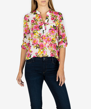 Jasmine Printed Top (Terni White)- Kut From the Kloth
