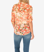 Jasmine Printed Top (Treviso Orange) Hover Image
