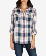 Hannah Plaid Top Main Image