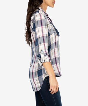 Hannah Plaid Top-New-Kut from the Kloth