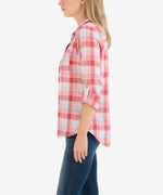 Belle Plaid Button Down Top Hover Image
