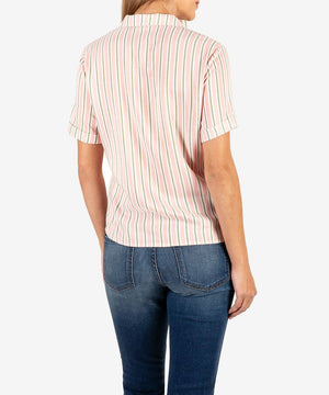 Penelope-Tie Front Blouse-Kut from the Kloth