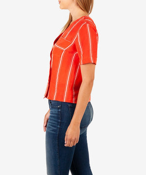 Biancca Button Front Top-Kut from the Kloth