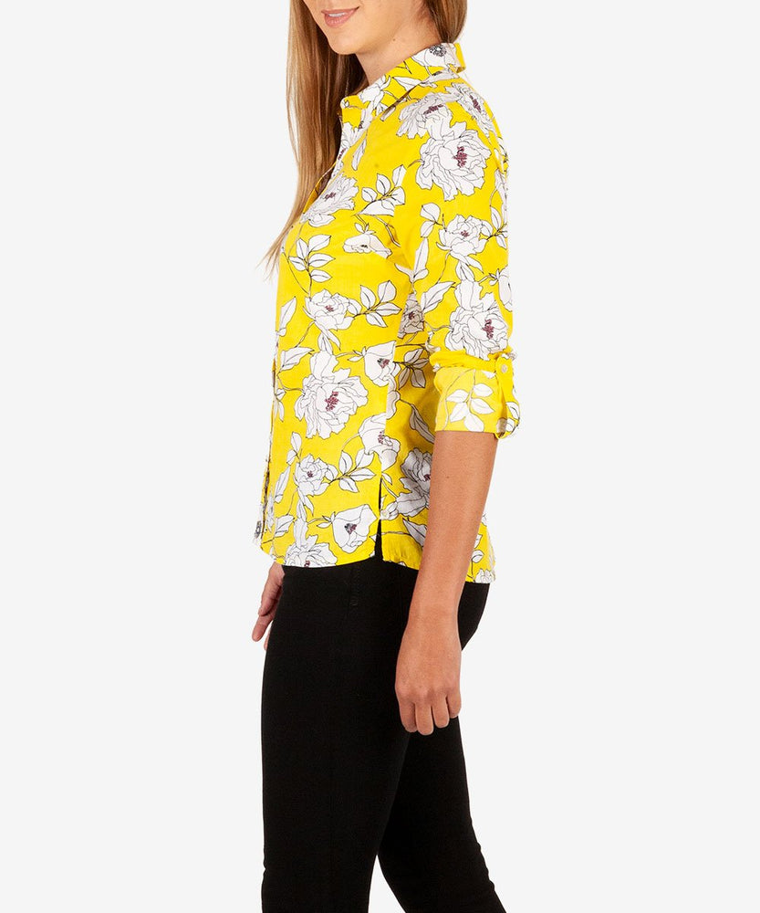 Kendra Button Down Shirt (Lemon)