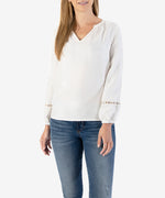 Abbigail Peasant Blouse, Exclusive (Off White)