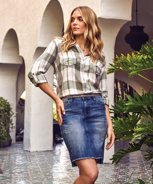 Hannah Plaid Top-Kut from the Kloth