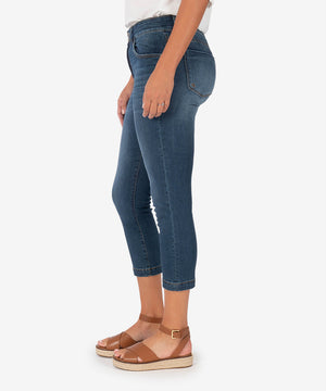 Lauren High Rise Crop Straight Leg (Crown Wash)-New-Kut from the Kloth
