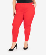 Straight Leg Trouser, Plus (Crimson Red) Main Image