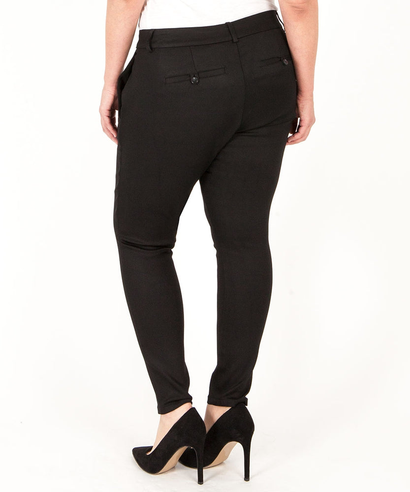 Emilia Ponte Skinny Trouser, Plus (Black)-Kut from the Kloth