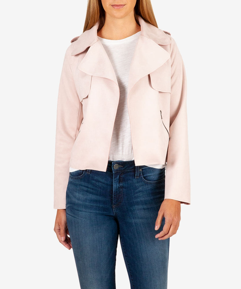 Jacee Faux Suede Moto Jacket