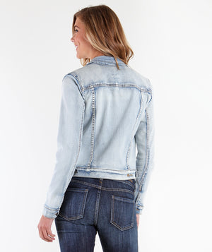 Amelia Denim Jacket (Sweet Wash)-Jackets-Kut from the Kloth