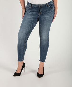 Connie Slim Fit Ankle Skinny, Plus (Guileles Wash)-Denim-Kut from the Kloth