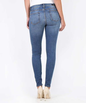 Mia Slim Fit Skinny, Short Inseam Exclusive (Promising Wash)-Denim-Kut from the Kloth