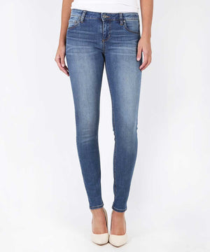 Mia Slim Fit Skinny, Short Inseam Exclusive (Promising Wash)-Denim-0-Promising W/Medium Base Wash-Kut from the Kloth
