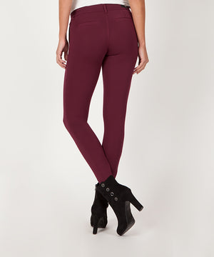 Mia Knit Slim Fit Ankle Skinny (Wine)-Denim-Kut from the Kloth