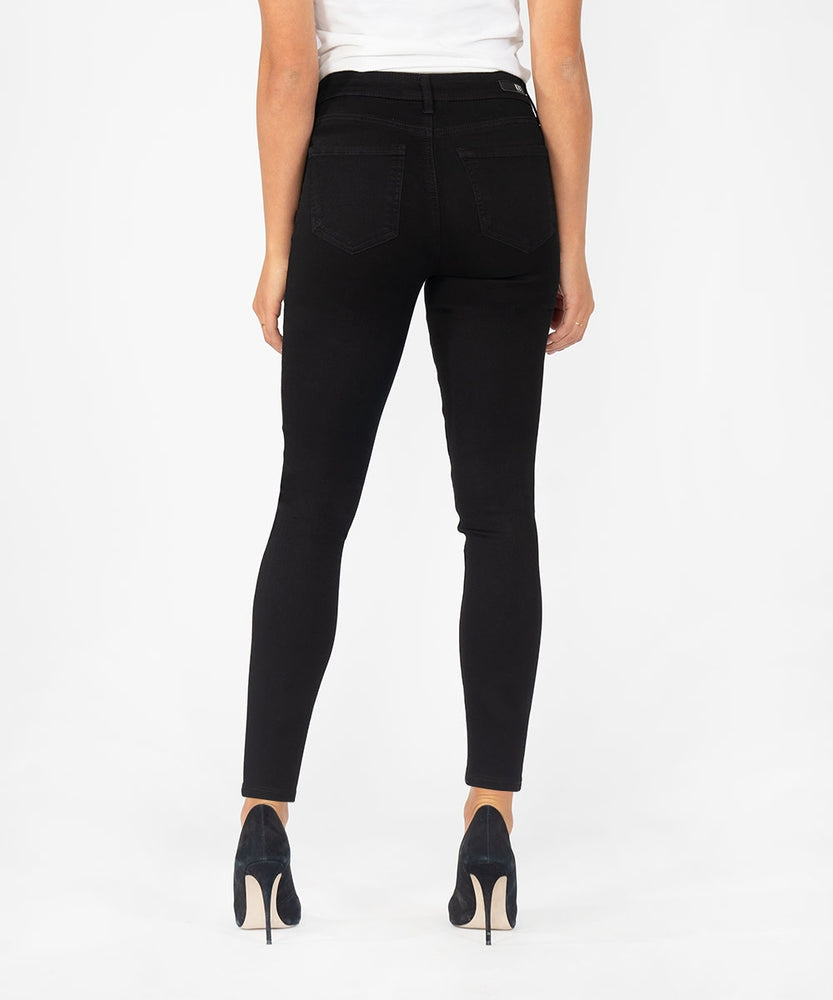 Donna High Rise Ponte Ankle Skinny (Black)