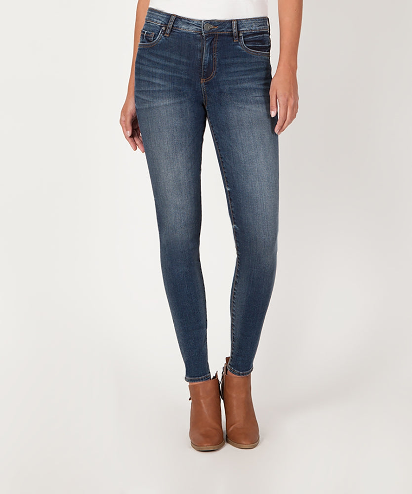 Donna High Rise Slim Skinny (Plush Wash)