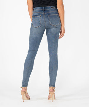 Mia High Rise Slim Fit Skinny (Interfere Wash)-Kut from the Kloth
