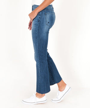 Kelsey Ankle Flare, Exclusive (Interfere Wash)-Denim-Kut from the Kloth