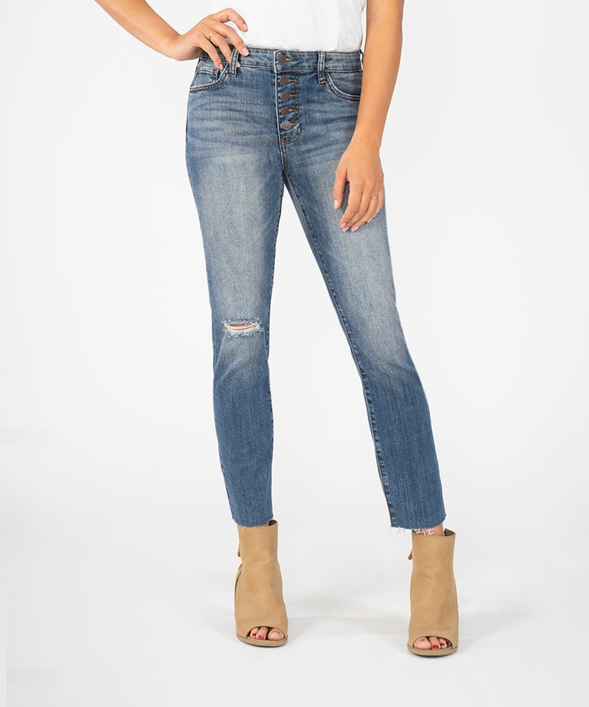 Reese High Rise Ankle Straight Leg (Interested Wash)
