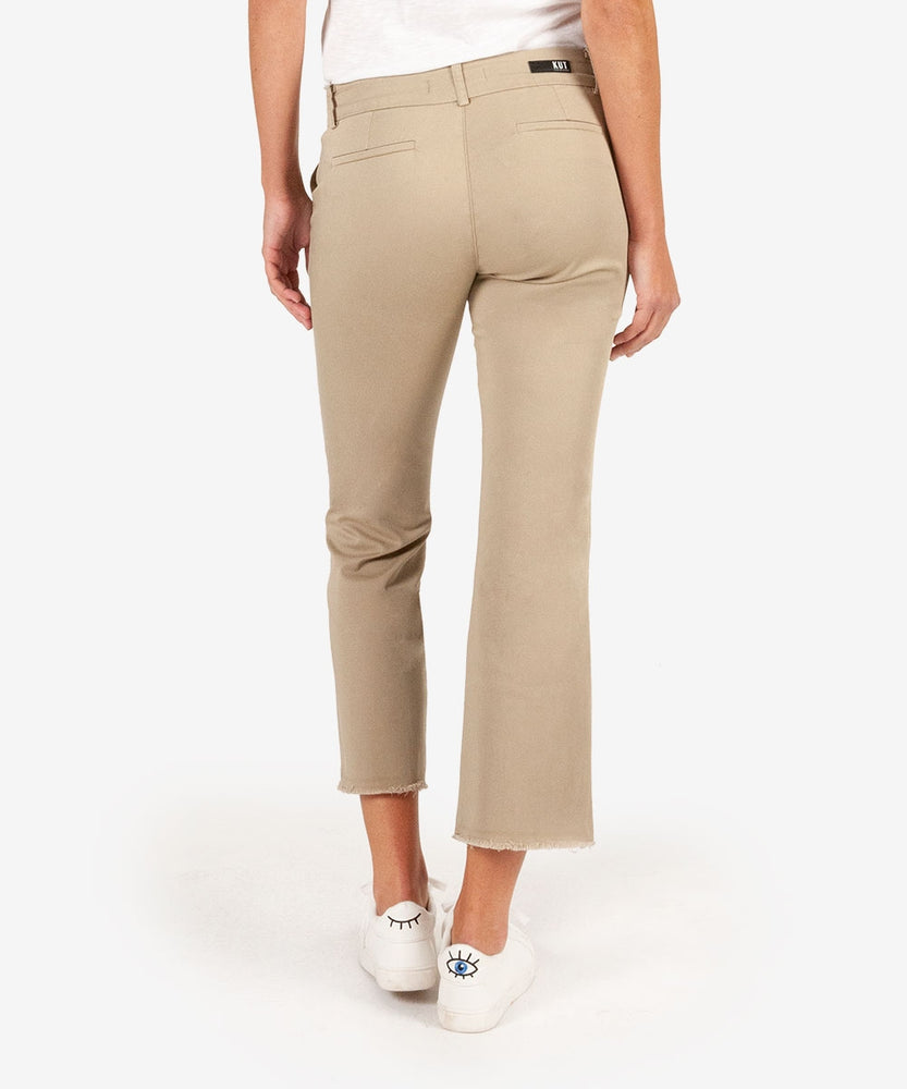 Stella Kick Flare Trouser (Khaki)-Kut from the Kloth