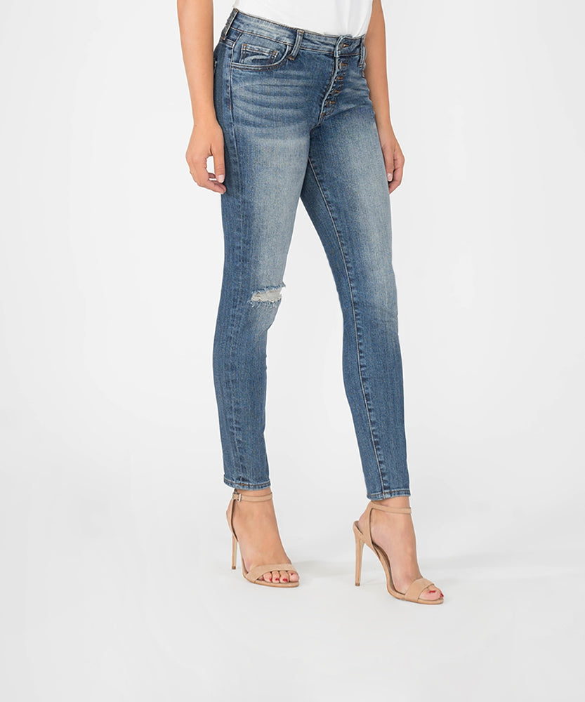 Donna High Rise Slim Fit Ankle Skinny (Interested Wash)-Kut from the Kloth