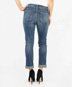 Catherine Boyfriend, Petite (Diverge Wash)-Denim-Kut from the Kloth