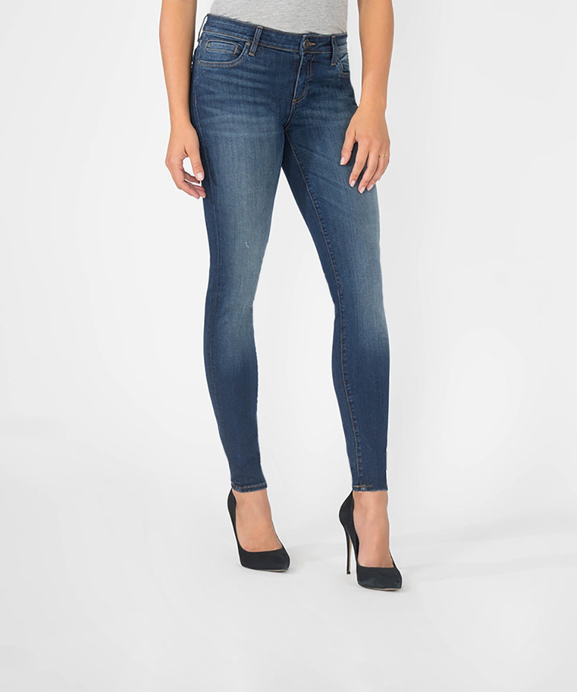 Mia Slim Fit Skinny, Long Inseam (Awareness Wash)-Kut from the Kloth