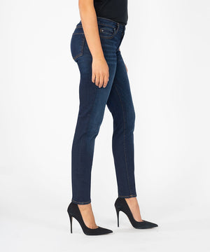 Diana Relaxed Fit Skinny, Long Inseam (Brightness Wash)-Denim-Kut from the Kloth