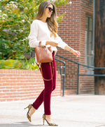 Diana Corduroy Relaxed Fit Skinny (Pomegranate) Main Image
