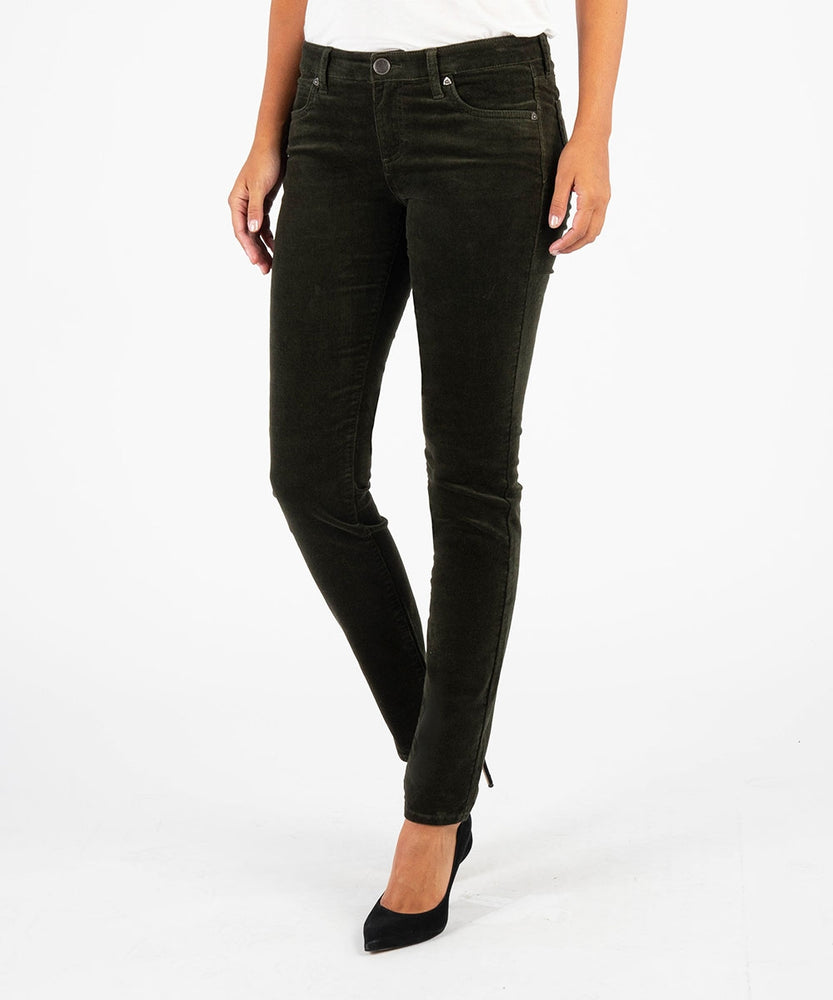 Diana Relaxed Fit Corduroy Skinny (OLIVE)