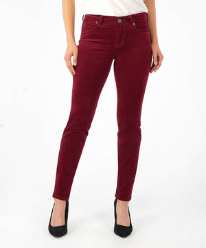 Diana Corduroy Relaxed Fit Skinny (Pomegranate)-Denim-0-Pomegranate J-Kut from the Kloth