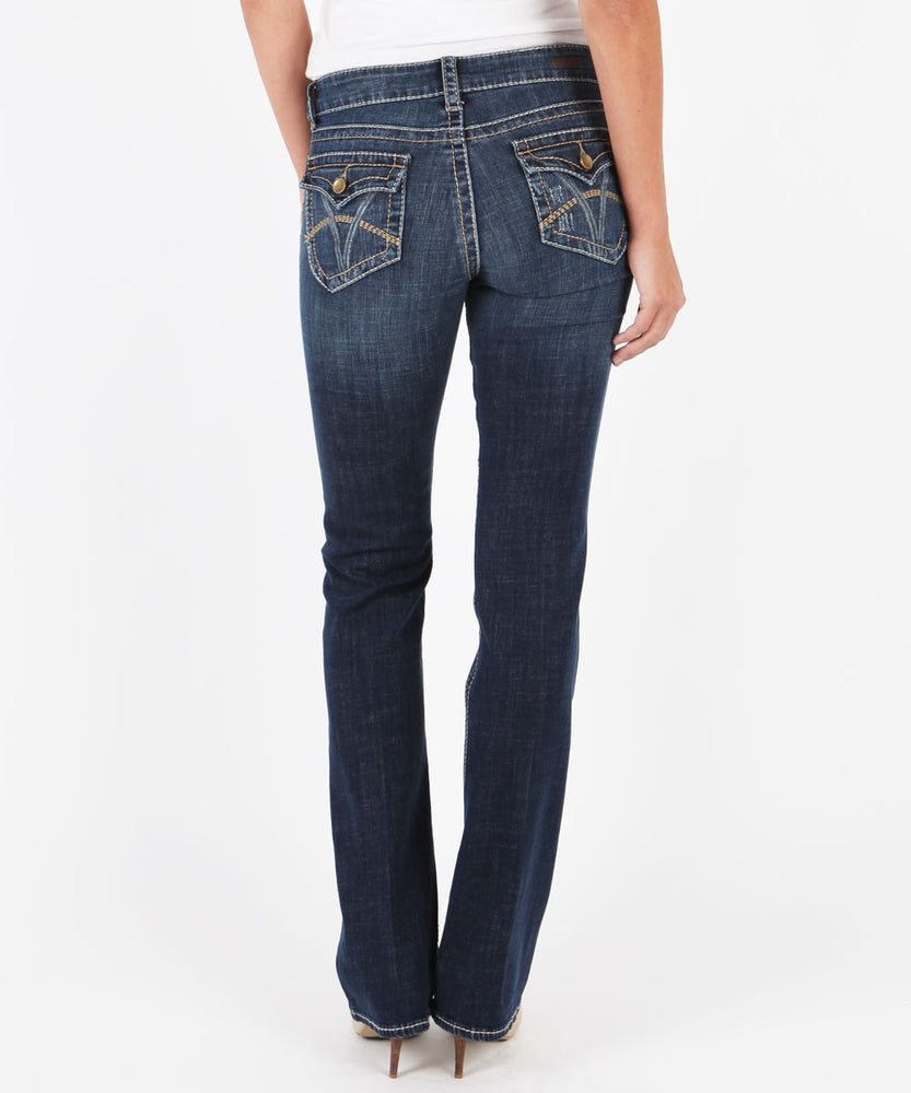"Natalie High Rise Boot Cut Vagos Wash ""Available in Regular, Short and Long Inseam""-Kut from the Kloth"