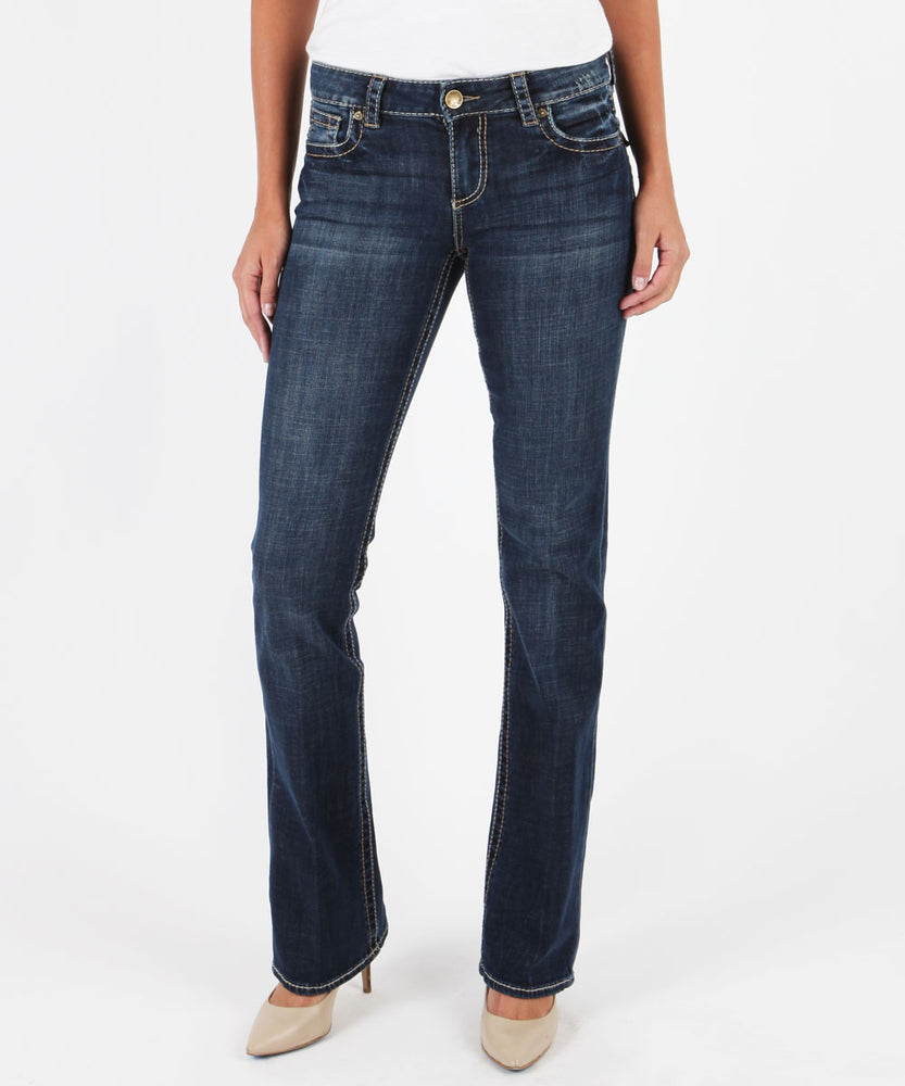 Natalie Bootcut, Vagos Wash (Available in Regular, Short and Long Inseam)