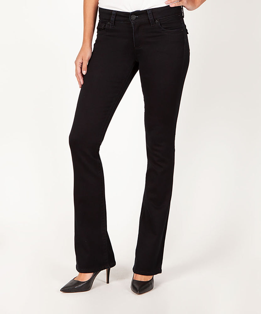 Natalie Boot Cut, Long Inseam (Black)-Kut from the Kloth