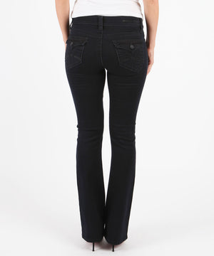 Natalie Bootcut, Short Inseam (Black)-Denim-Kut from the Kloth