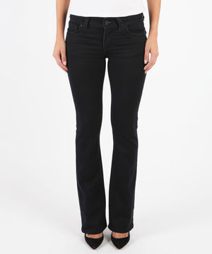 Natalie Bootcut, Short Inseam (Black)-Denim-0s-Black-Kut from the Kloth