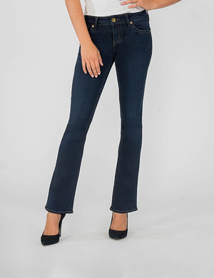 Natalie Bootcut, Short Inseam (Conquer Wash)-Fit-0-Conquer W/Euro Base Wash-Kut from the Kloth