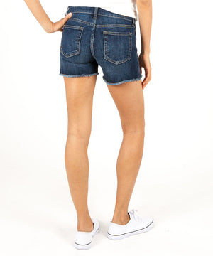 Gidget Fray Short (Stimulating Wash)-Denim-Kut from the Kloth
