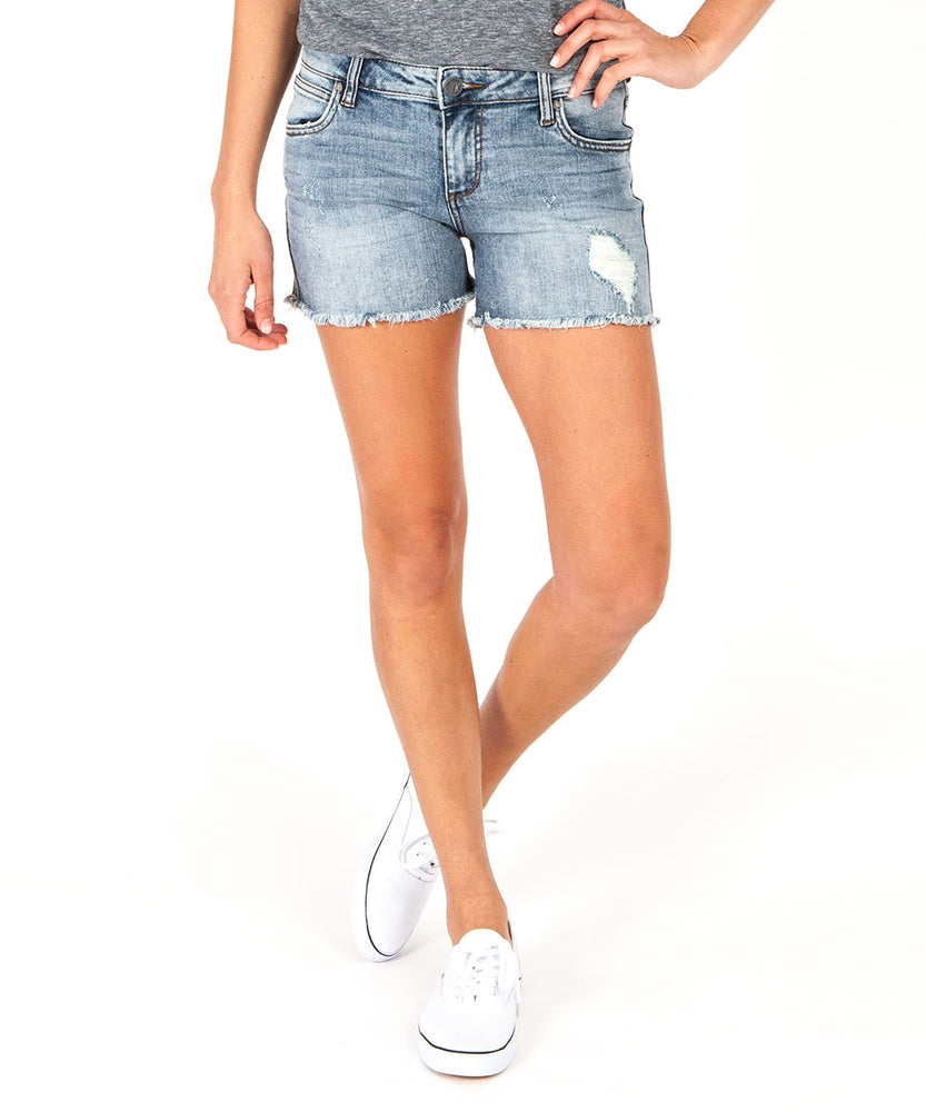 Gidget Fray Hem Short (Ladylike Wash)-Kut from the Kloth