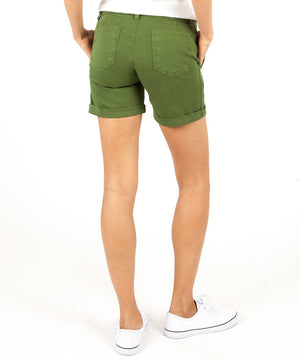 Janice Twill Roll Up Short (Green)-Kut from the Kloth