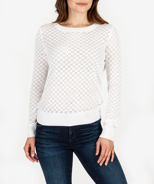 Edythe Eyelet Knit Sweater-Kut from the Kloth