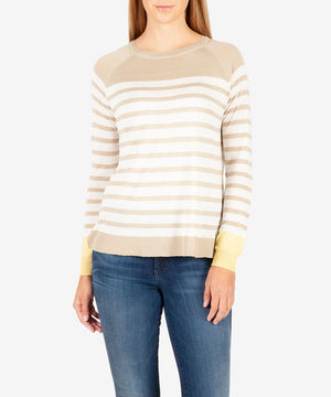 Bianka Stripe Sweater-Kut from the Kloth