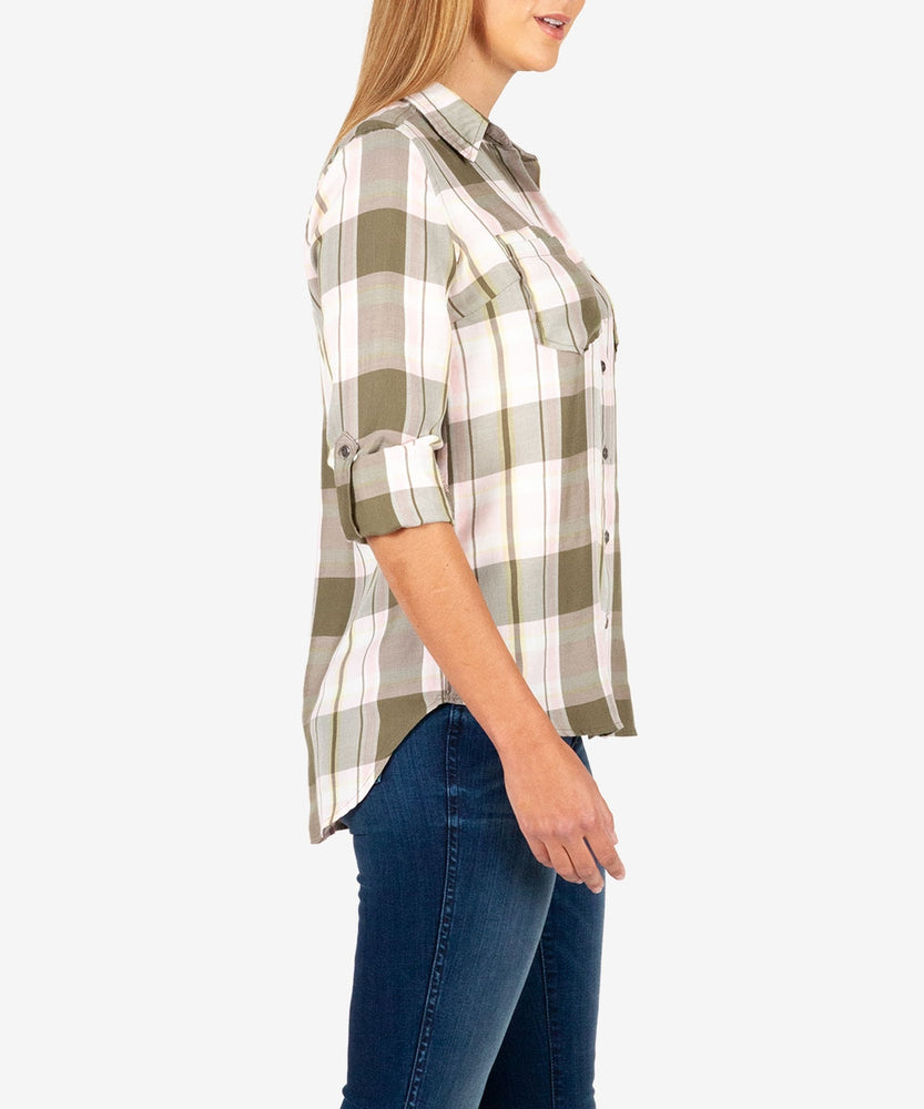 Hannah Plaid Top