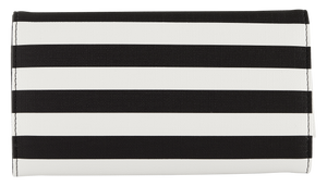 Slim Striped Wallet-New-ONE SIZE FITS ALL-Black/White-Kut from the Kloth